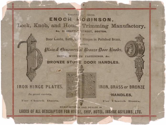 The Decorative Hardware Of Enoch Robinson E R Butler Co