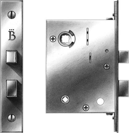 Interior mortise lock functions e r butler co - Interior door privacy mortise lock ...
